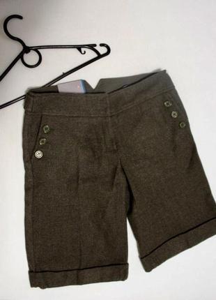 Шерстяные шорты бермуды topshop