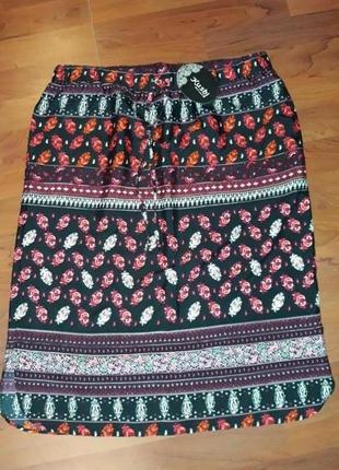 🎁1+1=3 идеальная повседневная прямая юбка до колена kushi, размер 46 - 48