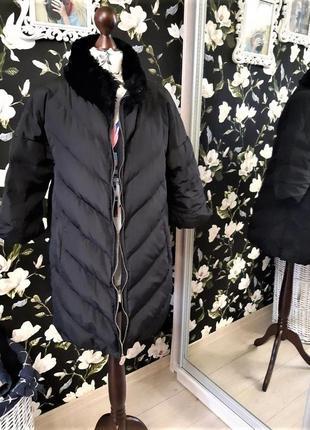 Элегантный пуховик celyn b (elisabetta franchi) стильный, пальто чёрное