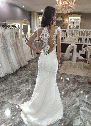 Шикарное дизайнерское свадебное платье katy corso!