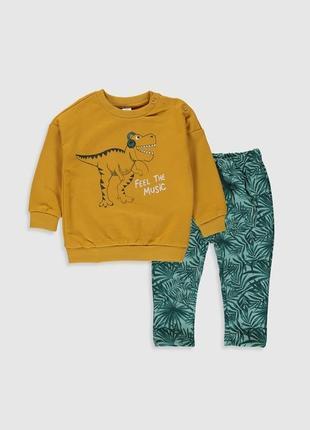 2 - 3 и 4- 5 л новый фирменный крутой костюм свитшот и джогеры спортивные штаны динозавр