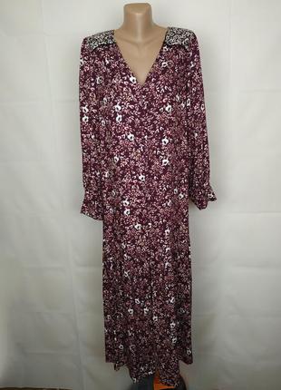 Платье шикарное стильное в принт вискоза штапель marks&spencer uk 16/44/xl