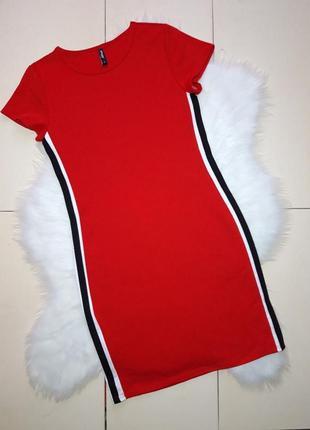 Красное платье с лампасами спорт page