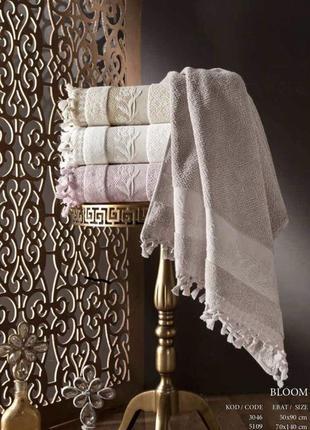 Набор люксовых махровых полотенец турецкого производства