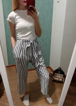 Шикарные хлопковые кюлоты, брюки, штаны от zara