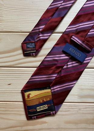 Шелковый галстук kenzo homme в полоску