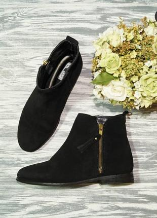 🌿36🌿европа🇪🇺 next. замша. стильные ботинки на низком ходу