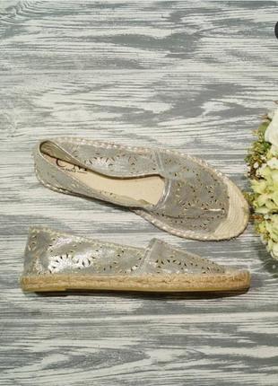 🌿40🌿европа🇪🇺 c'm. paris. фирменные серебренные эспадрильи, мокасины