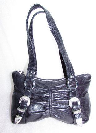 Стильная сумка 100 % натуральная кожа ~river island~