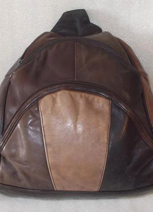 Большой анти-гламурный рюкзак натуральная кожа