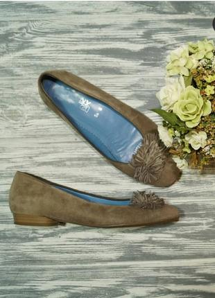 🌿39🌿европа🇪🇺 ara. замша, кожа. комфортные фирменные туфли на низком ходу