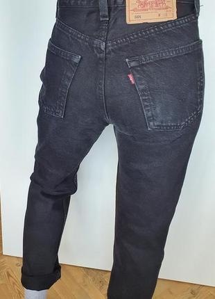 Винтажные чёрные джинсы levi's 501 мом мам mom высокая посадка талия джинсы винтаж