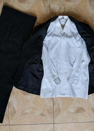 Школьный костюм 9-10 лет (пиджак+брюки+рубашка)
