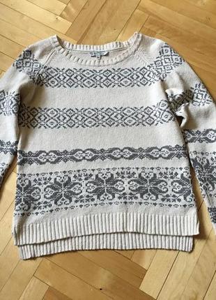 Пуловер джемпер реглан хлопок лен от fat face пог  49 см