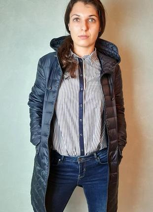 Длинная стеганая куртка zara
