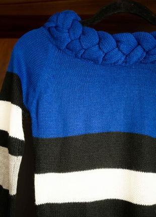 Теплое платье туника зима с плетением majora новое