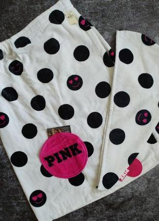 Набор полотенце+тюрбан pink от victorias secret