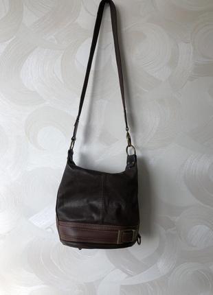 Кожаная сумка рюкзак трансформер