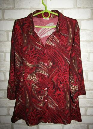Стрейчевая блуза р-р 20 бренд kingfield