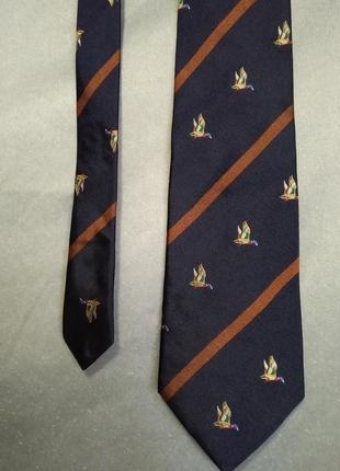 Шелковый галстук hemley с утками
