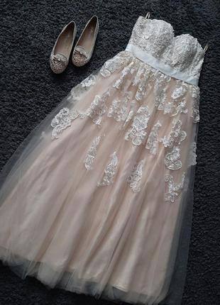 Шикарное выпускное/свадебное платье🔥