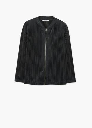 Стильный плиссированной бомбер куртка жакет блузон mango