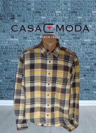 🍁🍁casa moda фирменная мужская плотная рубашка под байку германия xl 🍁🍁🍁