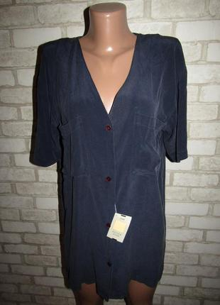 Шелковая блуза кардиган новая р-р 38-12 бренд hema