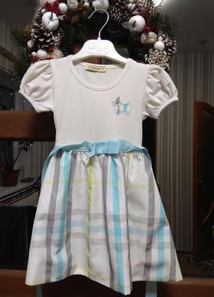 Летнее платье 86-92 см