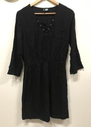 Платье чёрное divided h&m p.42/12. #230.