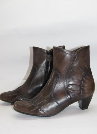 Jana natural шикарные кожаные нарядные ботинки  b4
