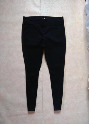 Большие стильные черные джинсы скинни с высокой талией by very, 18 pазмер.
