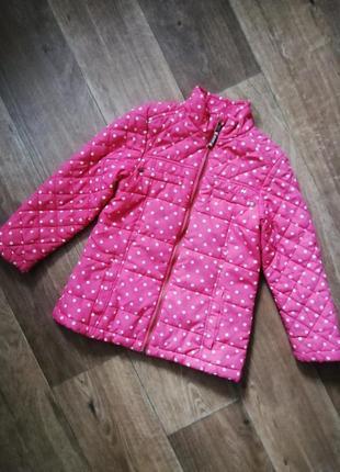 Next стеганная куртка, курточка, ветровка в горошек