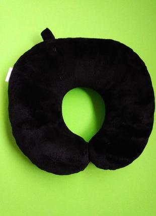 Тревел подушка подушка для путешествий - черная, дорожная подушка, подушка в машину