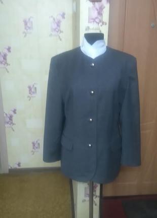 Шикарный шерстяной брендовый пиджак жакет betty barclay  р.16 (l/xl)
