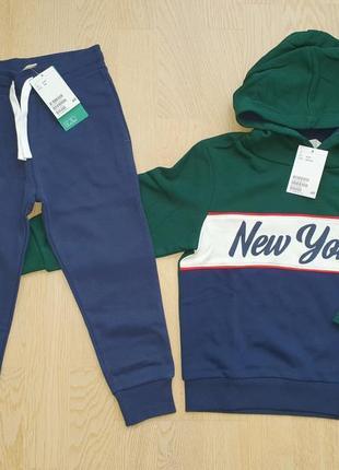 Спортивный костюм-комплект h&m 3-4 года 4-5 лет 98-104-110 см