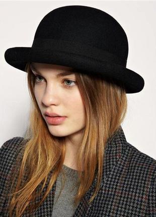 Шляпа котелок h&m