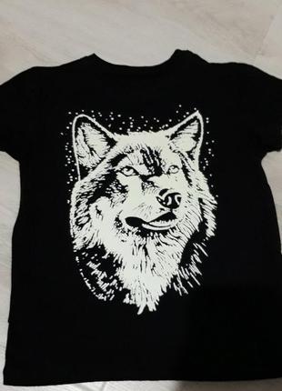 Термопатч, наклейка волк светящийся