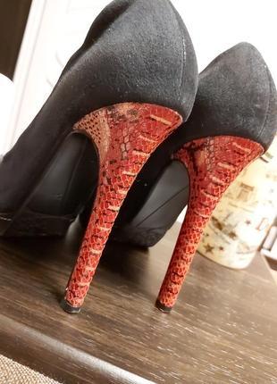 Туфли замшевые