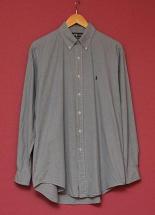 Polo ralph lauren рр m blake cotton рубашка из хлопка