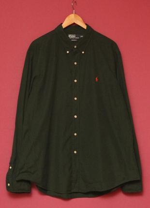 Polo ralph lauren xxl рубашка из хлопка