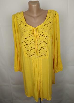 Блуза рубаха новая красивая батистовка большой размер вискоза tu uk 20/48/3xl