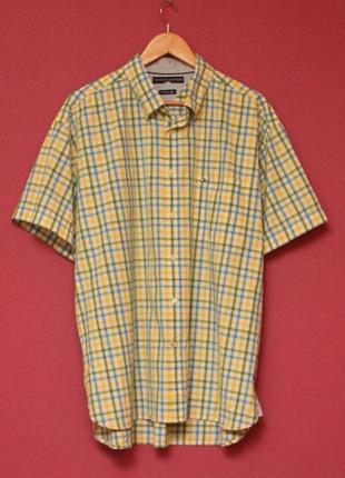 Tommy hilfiger xl рубашка из хлопка короткий рукав.