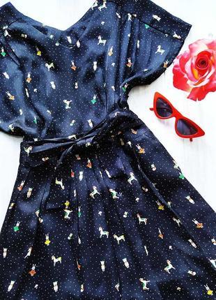 Шикарное атласное платье с поясом 😍