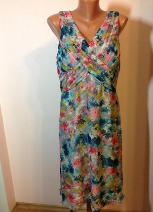 Классное принтовое миди платье/xl/ brend m& co