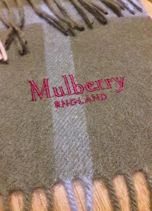 Шарф в клетку mulberry.