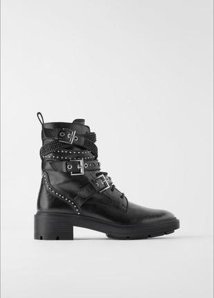 Оригинал ботинки zara! натуральная кожа! размер 40
