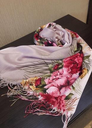♥️невероятный турецкий кашемировый шарф шаль палантин расцветки