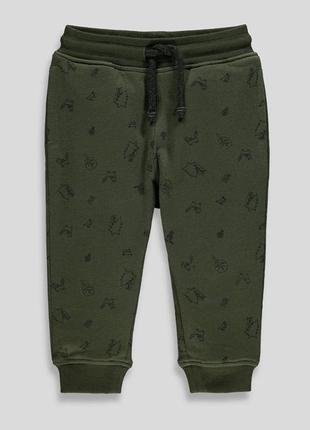 Фирменные теплые штаны, штаники, джоггеры на  для мальчика matalan, размер 80-86, 12-18 м
