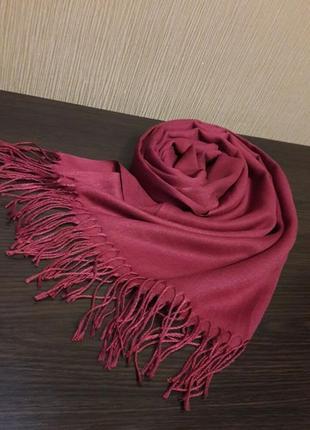 🌺красивенная фуксия кашемировый турецкий шарф шаль